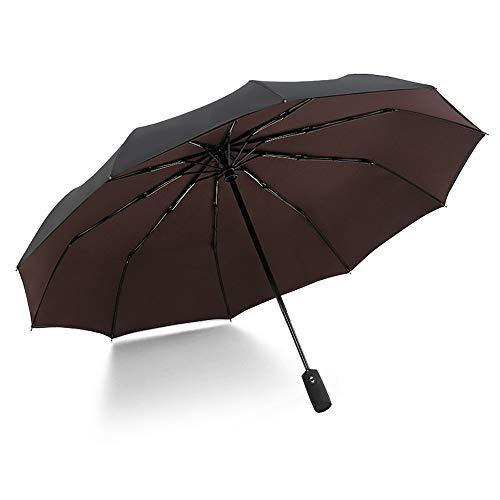 xinrongqu Übergroßer 10-Knochen-Doppelaußenschirm Sonnenschirm Automatischer Öffnungswindschutzschirm Kaffee 23