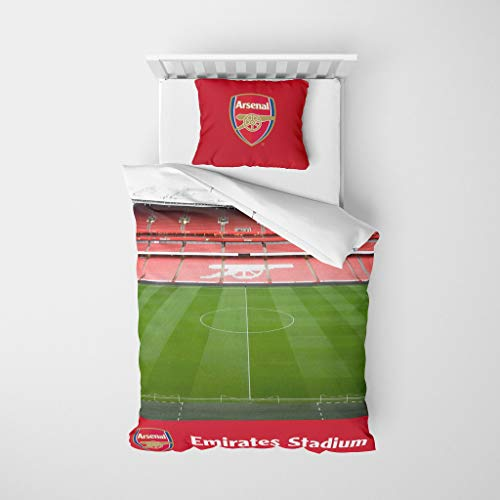 FOCO Arsenal FC Stadium Digital Print Single Duvet Bedding Set