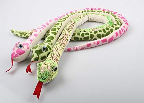 COOLMP – Lote de 6 – Peluche serpiente con lengua mixta, 1,5 m