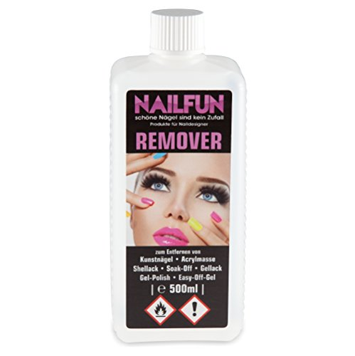 1/2 Liter REMOVER für Gellack, Shellack, Soak-Off, Gel-Polish, Easy-Off-Gel, Acrylmasse und Tips [1x 500ml]