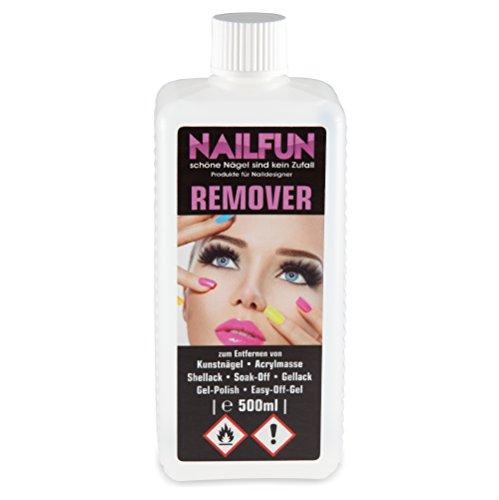 1/2 Liter REMOVER für Gellack, Shellack, Soak-Off, Gel-Polish, Easy-Off-Gel, Acrylmasse und Tips...