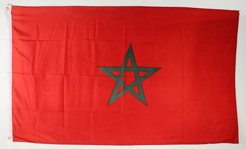 Flagge Fahne ca. 90x150 cm : Marokko Marokkoflagge Nationalflagge Nationalfahne