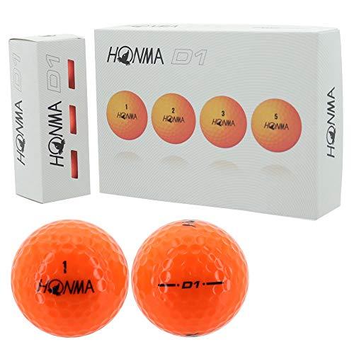 本間ゴルフ ゴルフボール NEW D1 BT-1801 オレンジ 1ダース (12個) オレンジ