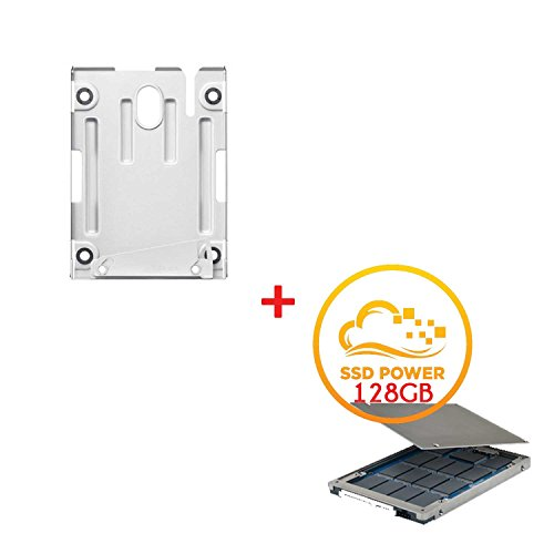Sony PlayStation 3PS3Hard Drive Kit inc support de fixation Caddy Cradle Super Slim avec disque dur–Inclure un support de montage et–exclusif à partir du disque dur Bipra limitée avec 1an de garantie SSD 128 Go