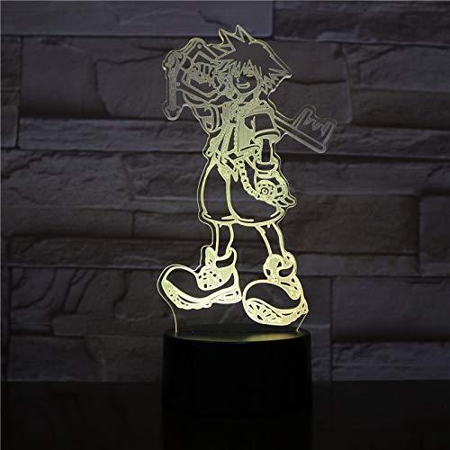 Kingdom Heart · Solar - Illusion Light 3D, Dégradé De 7 Couleurs, Interrupteur Led Smart Touch, Lampe De Chevet
