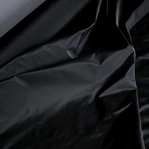 TOLKO Kleider-TAFT als Modestoff/Dekostoff | edel Changierend mit Glanz | Blickdicht, knitterarm | Stoff zum Nähen Dekorieren Basteln | Meterware 148cm breit (Schwarz)
