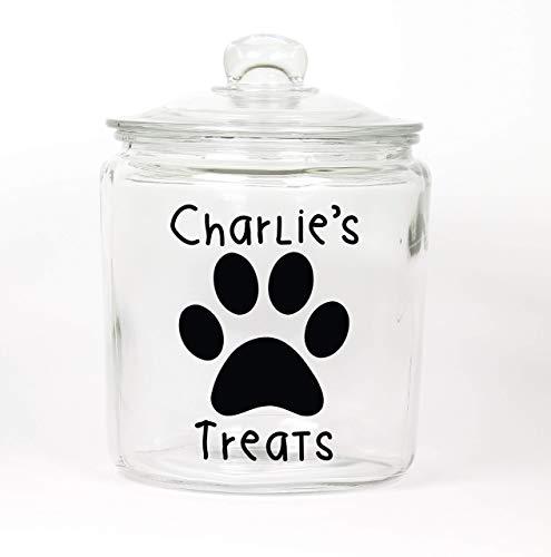 Personalized Dog Glass Treat Jar