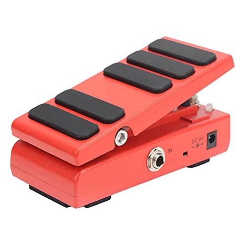 Pedal Wah-Wah Pedal de efectos de volumen 2 en 1 Pedal WAH multimodo y Pedal de volumen Partes de guitarra Accesorios para instrumentos musicales(rojo)