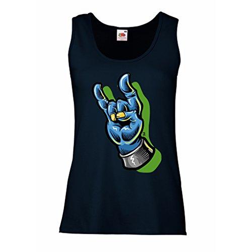 Camisetas sin Mangas para Mujer Zombie Mano A Rock and Roll símbolo, Signo de...