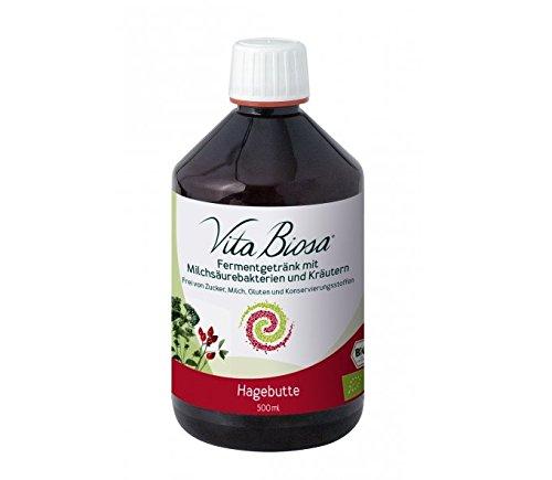NEU! VITA BIOSA Hagebutte 500 ml ÖKO/Milchsäurebakterien / Fermentgetränk