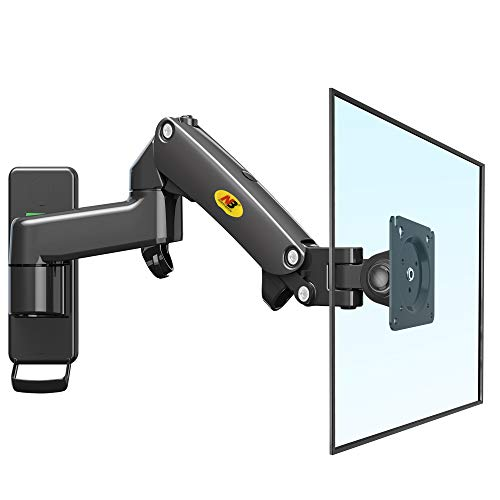 NB North Bayou Monitor Wandhalterung Halterung für 17 bis 27 Zoll PC Monitor TV Ergonomisch Höhenverstellbar 360°Schwenkbar und Drehbar - VESA 75x75mm 100x100mm Gewicht 2-7kg(4.4-15.4Ibs)