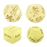 Funny Sex Dice Games, Romantic Positions Game Dice for Couples, Romantic Role Playing Dice, Humour Dice Toys for Adult 4 Pack