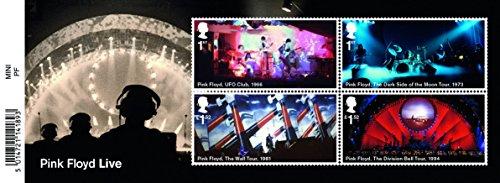 Pink Floyd Miniatur Tabelle Briefmarken 2016