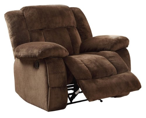 Homelegance Laurelton 43' Microfiber Glider Recliner, Chocolate Brown