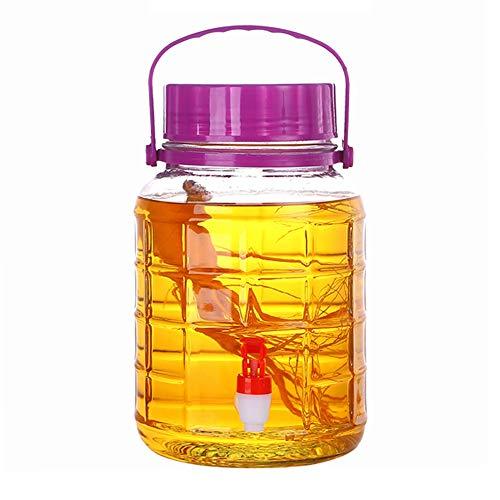 Drankdispenser | 3 L ~ 10 L drankdispenser | met lekvrije tape en deksel | handige greep | rond | koude drank, Sangria, limonade, sap ~