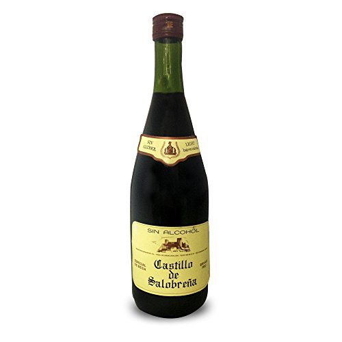 Castillo de Salobreña - Zumo de manzana y mosto de uva sin alcohol, botella de vidrio 1 L - [Pack de 6]