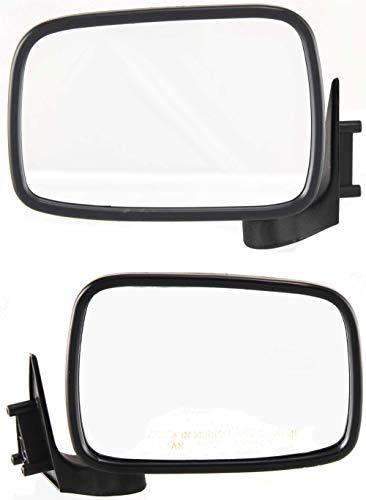 Manual Mirror compatible with Mazda Pickup 86-93 Right and Left Side Manual Folding Non-Heated Paintable