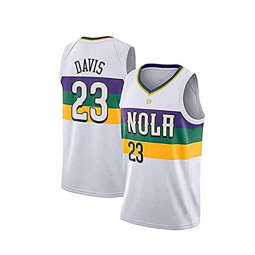 ZRHZB Pelicans No. 23 Davis Camiseta de Baloncesto para Hombre Transpirable Resistente al Desgaste Camiseta para niños Adolescentes Estudiantes(Tamaño: S-XXL),XXL