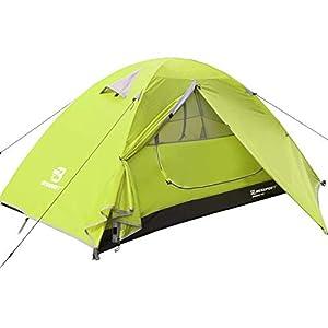 Bessport Camping Tent 1 Person Tent Waterproof Two Doors Tent