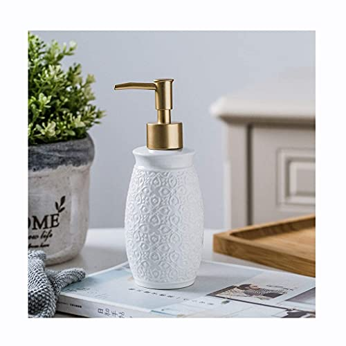 Conjunto de accesorios de baño Dispensador de jabón Dispensador de jabón Dispensador de jabón Botella de jabón Botella de locixión Botella de cerámica Loción de cerámica Botella de jabón Botella de ja