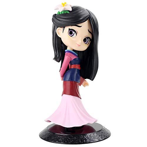 ZYBB 14Cm Q Posket - Mulan Prinzessin Figur Spielzeug Mulan Prinzessin Action Figur Modell Sammlung PVC Spielzeug, Handgemachte Modell Anime Superhelden Statuen Geschenk 1PCS