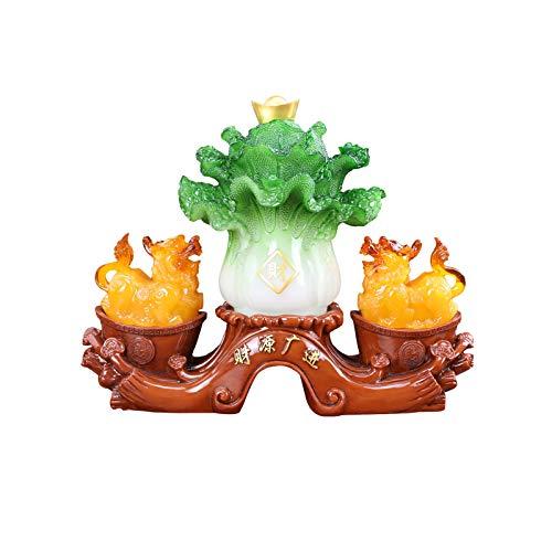 Hong Yi Fei-Shop Buddha Decorativos PI XIU Jade Col Decoración Lucky Home Sala de Estar Cabineta de Vino Pi Xiu Decoración Oficina Regalos for el hogar Atraer Riqueza Buddha Figures Sculpture