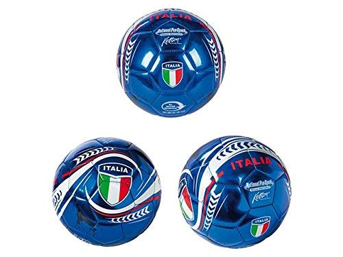 Rsta 3.ST10388, Calcio N5 Italia Azzurri Similcuoio Gonfio D.23 Pallone Cuoio 953 Unisex Bambino, Multicolore, Taglia Unica