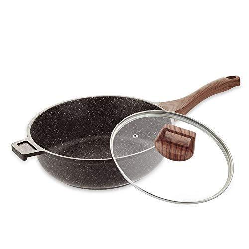 MotBach Cacerola de Utensilios de Cocina Sartén Sartén Médico Piedra Non Stick Pan Pan Cocina Gasalera Recubrida Freír Pot SART Poder