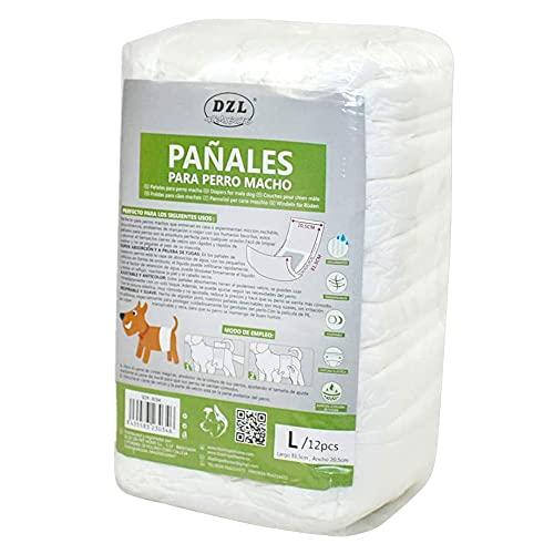 SMELL & SMILE Pannolini usa e getta per cani maschi pannolini igienici per cani animali domestici mutandine igieniche morbide assorbenti (L- 20,5 x 81,5 cm)