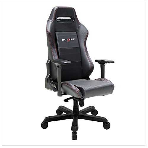 DXRacer Iron Series DOH/IS88/N Newedge Edition Office Chair X Large PC Gaming Chair Computer Chair Executive Chair Ergonomic Rocker with Pillows (Black)