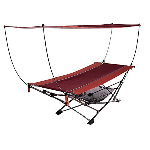 AAGYJ Large Luxury Hammock, Oversized Camping Hammock w/Awning & Pillows, Outdoor Leisure Hammock Tent, Hanging Bed, for Travel, Hiking, Beach, Patio, Terrace, Garden