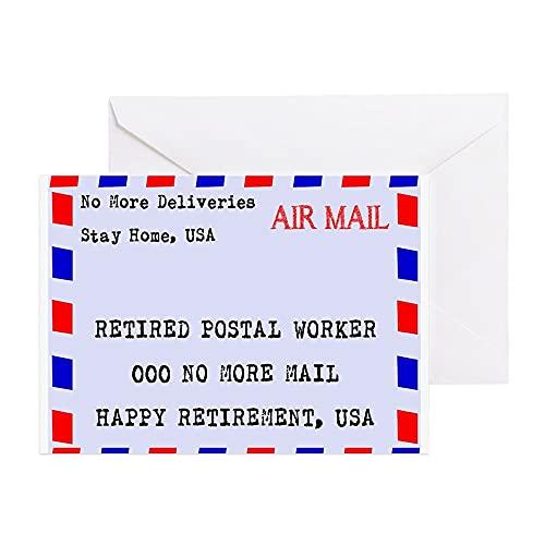 Tarjeta de felicitación para trabajadores postales jubilados, divertida, con sobres, para niños, mamá, papá, hermana, amigos, regalos de Navidad