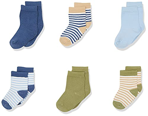 Product Image of the Touched by Nature Baby Organic Cotton Socks, Boy Stripes, 6-12 Months