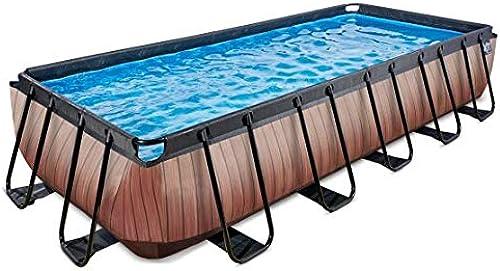 EXIT Pool Wood 540x250cm ohne Filterpumpe und Leiter - braun