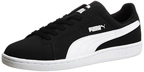 1. Puma Unisex Smash Nubuck Black and White Boat Shoes