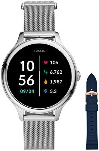 Fossil Smartwatch GEN 5E Connected da Donna con Wear OS by Google, Frequenza Cardiaca, GPS, Notifiche per Smartphone e NFC + Cinturino dell'orologio S181370
