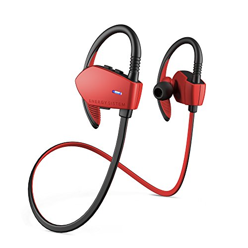 Energy Sistem Earphones Sport 1 Bluetooth (Auriculares inalambricos, Bluetooth, Control Talk, Sport, Hoock) - Rojo