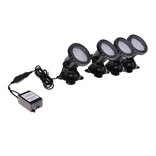 Homyl LED Unterwasser Leuchte Unterwasserscheinwerfer RGB Farbwechsel Schwimmlicht Wasserdicht Lampe Dekolicht für Garten, Aquarium, Badewanne, Teich und Spa usw. - Vier Lichter