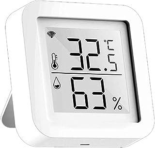 Zwbfu LCD-skärm, Tuya WiFi LCD-skärm USB-nätaggregat intelligenta sensorer ℉/℃ omkopplare temperatur/fuktvisning hem intel...