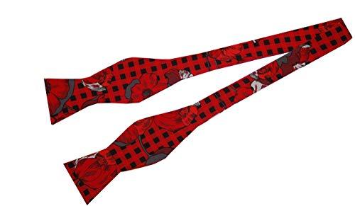 Herrenfliege Baumwolle gemustert zum Binden, Gr. 54, Halsumfang ca. 42 cm