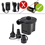 Best4U Electric Pumps Battery Powered Air Pump Quick Inflator and Deflator for Air Beds Toys Lilos Pools (4 D...