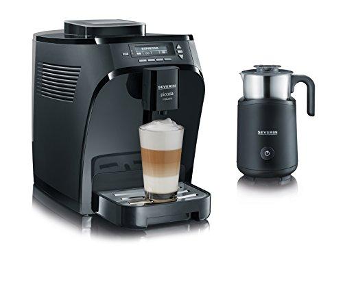 Severin KA 8081 Piccola induzio Kaffeevollautomat mit Induktions-Milchaufschäumer, 15 bar, schwarz matt / glänzend