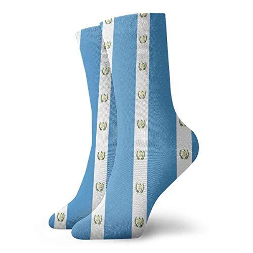 Uosliks Guatemala Flag Pattern Novelty Short Crew Socks Casual Athletic Sports Crew Tube Socks