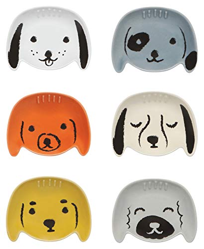 Now Designs Dog Shaped Pinch Bowls, Set of 6