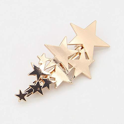 Dylandy Stirnband Haarschmuck Kopfbedeckung Fashion Schlichter Stil Pentagramm für Frauen Mädchen Lady 7,1 x 3,7 cm 7.1cm*3.7cm gold