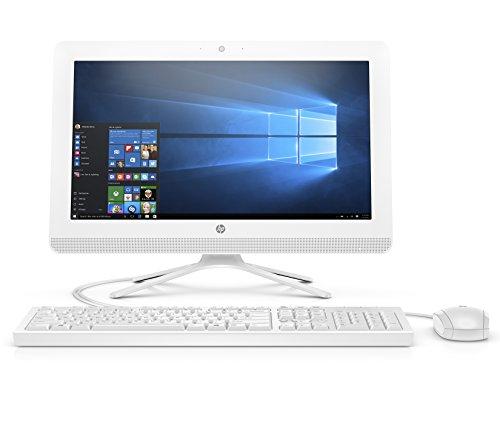 HP 20-inch All-in-One Computer, Intel Celeron J4005, 4GB RAM, 1TB Hard Drive, Windows 10 (20-c410, White) - 3KZ89AA#ABA