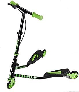 Kawin - Patinete doble Slider Fliker, de 3 ruedas, plegable, skateboard con freno