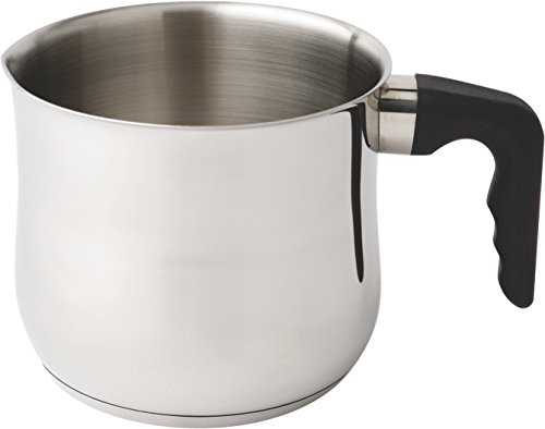 Zinel 1020 Milk/Sauce/Boiling Pot with Bekalite Handle, Stainless Steel, Silver, 15 cm