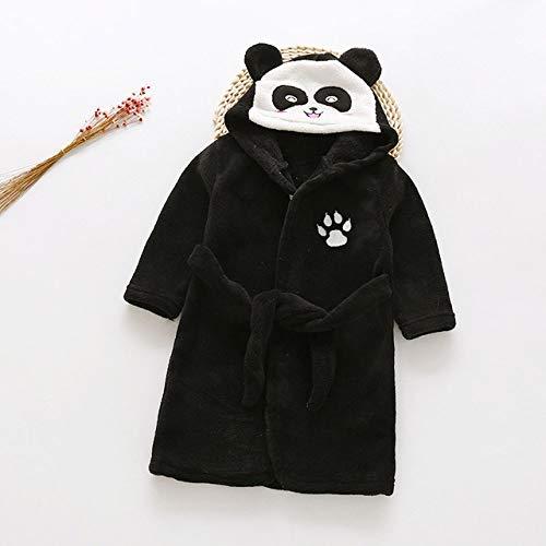 YPDM badjas, Winter Herfst Flannel Badjas voor Kinderen Borduurwerk Panda Patroon Slaapmode Badjas Baby Zachte Hooded Kids Dressing Gown,7