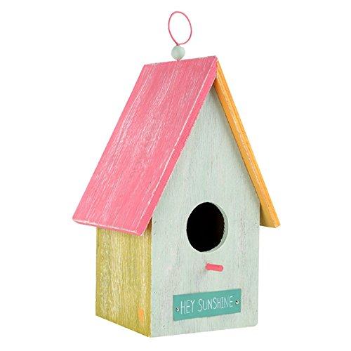 Small Foot Maison pour Oiseaux Hello Sunshine, Multicolore, 16x14x28,5 cm